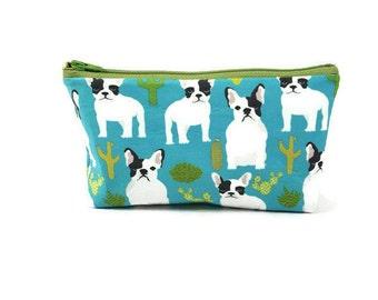 Boston Terrier  Makeup Bag, Makeup Pouch, Zipper Pouch, Zipper Bag, Dog Cosmetic Bag, Dog Zipper Bag, Dog Pouch