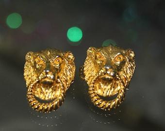 1975 Mimi Lion Belt Buckles