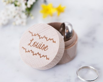 Personalised Jewellery Ring Box - Proposal Ring Box - Mother's Day Gift - Wedding Ring Box - Ring Bearer Box -  Wedding Ring Holder
