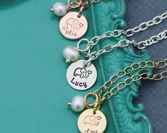 Elephant Bracelet Child • Personalized Girls Bracelet Little Elephant Charm • Safari Bracelet Toddler Jewelry • Gift Cute Animal Jewelry