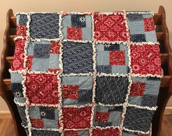 Queen Country Patchwork Quilt (Made to Order)