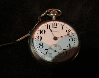 Illinois Pocket Watch 18s 1899 Working great