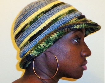 Escaping from My Base, Crochet Brim Cap
