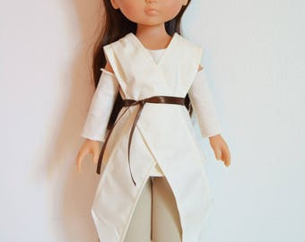 "Handmade Doll Clothes Star Wars Rey Costume fits 13"" Corolle Les Cheries Dolls"