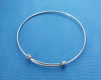 Stainless Steel Bangle Bracelet, Expandable-One Size Fits All Bracelet, Stacking Bracelet, Supply Jewelry Making, Metalwork