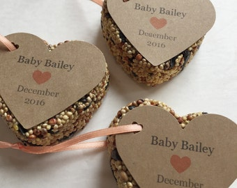30 Baby Shower Bird Seed Favors - Baby shower favors - Personalized bird seed favors