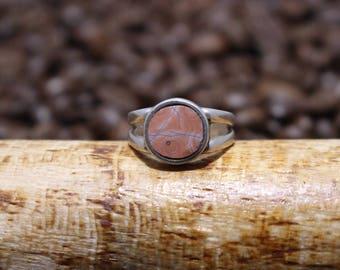 Lake Superior Agate Ring sz7