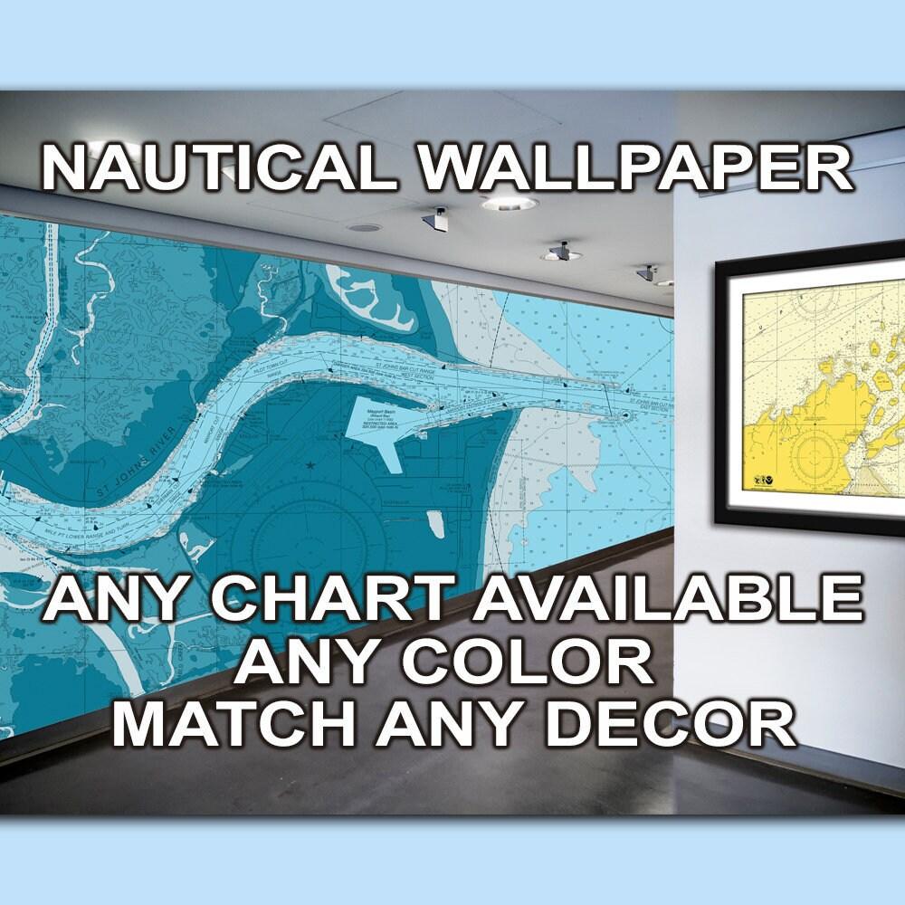 Nautical Chart Wallpaper Nautical Wallpaper