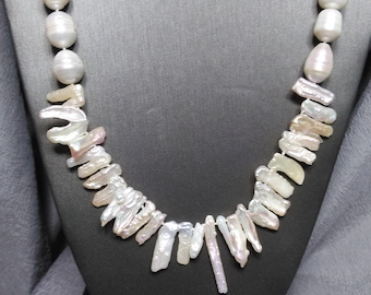 Keshi Pearl Necklace Hand Tied
