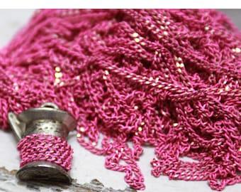Shiny pink chain