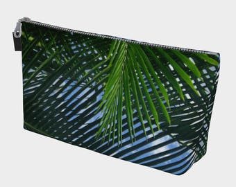Green Palm Fronds Make Up Case