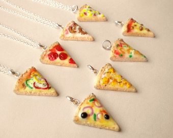 Choose Pizza slice necklace, Pizza jewelry, Miniature food jewelry, Miniatures, Kawaii necklace, Pizza pendant, Food necklace, Foodie gift