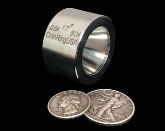 "25 cent & 50 cent ""STABILIZER""/Folding/Reduction Die for the US Quarter and Half Dollar, made of Hardened Stainless Steel @ 17-Degree Tapers"