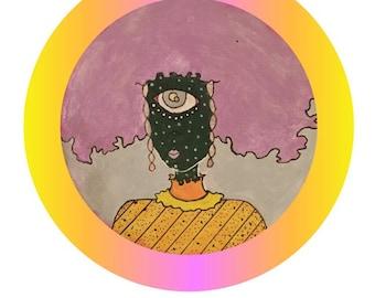 Afro Alien Babe