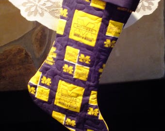 Christmas Stocking  University of Michigan Blue Cuff Must Have!
