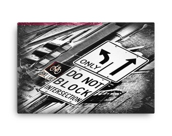 City Signs Abstract | 24x36 Canvas Print