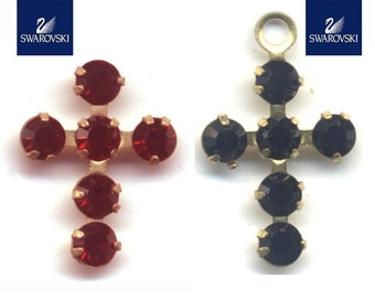 Swarovski crosses PP18 (2.5mm) stones  in jet and siam.  Price is for 10 crosses