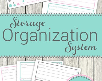 Printable storage organization system, Storage Solutions, Garage Storage Ideas, Home Storage, Storage Box Labels