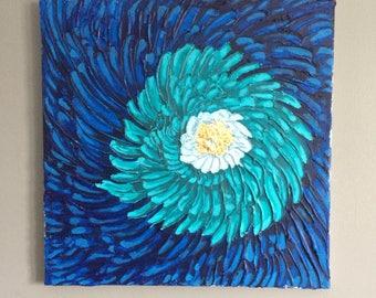 Textured spiral flower
