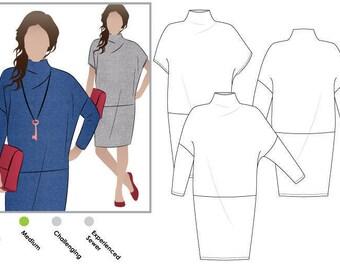 Cher Knit Dress - Sizes 16, 18, 20 - Women's Dress PDF Sewing Pattern by Style Arc - Sewing Project - Digital Pattern
