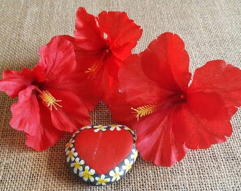Silk flowers etsy red hibiscus tropical flowers silk flowers set of three loose flowers mightylinksfo