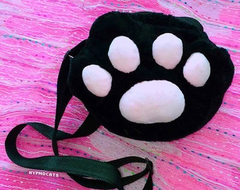 Cat Shoulder Messenger Bag Kawaii Fashion Black Pink Plush Cute Sweet Lolita Harajuku Cat Lovers Gift