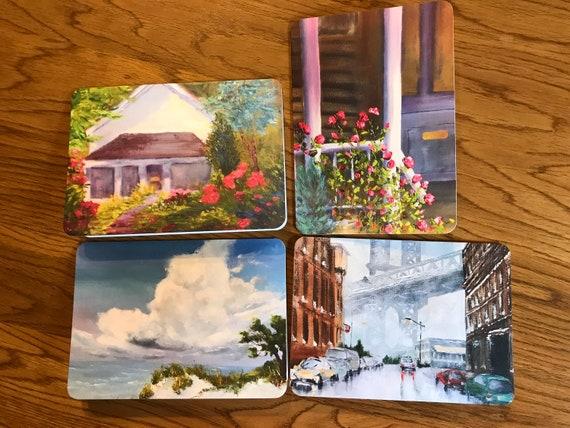 Blank Cards, Brooklyn Bridge, Art Notecard Sampler, Bloomington Indiana, Art Stationary, Greeting Cards, Painting Cards