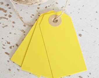 Parcel Tags Pk10 - Yellow