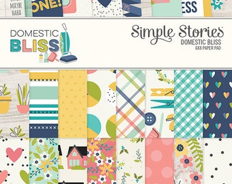 SALE Simple Stories Domestic Bliss 6x8 Paper Pad