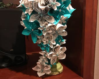 Paper Flower Cascading Bouquet