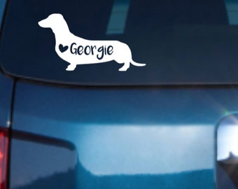 Dachshund Car Decal, Dachshund Vinyl Decal, Dachshund Decal, Dachshund Stickers,Pet Car Decals, Dog Car Decal, Car Decal
