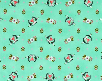 Tula Pink, 1/2 YD - Slow & Steady Winner's Circle, Trophies, Strawberry Kiwi - Quilting Fabric, By the Half Yard