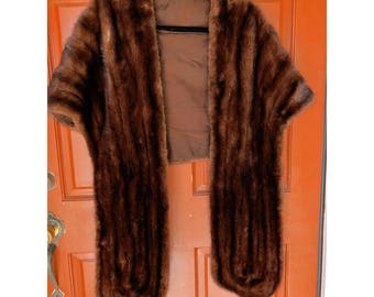 1950s Old Hollywood Glamour Mink Stole