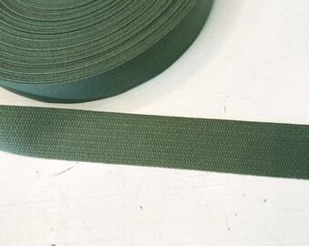 Cotton Strap 3 cm olive/khaki