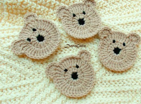 Easy Amigurumi Bear Pattern : Easy crochet pattern teddy bear pattern applique bears