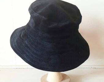 Black Suede Vintage Hat