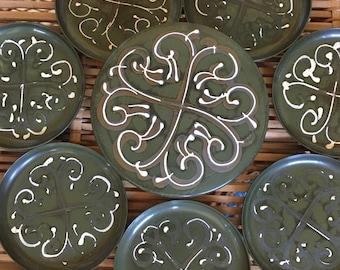 Vintage Lacquerware Coaster Set