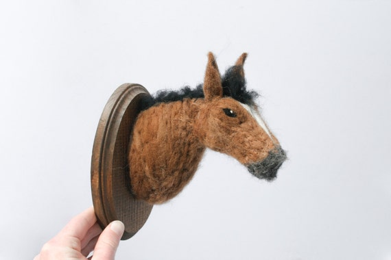 Felted Wool Horse