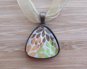 Colorful Pendant with Ribbon Necklace