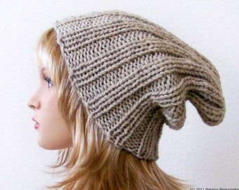 Knit Hat Women, Knit Hat Men,  Chunky Knit Hat, Slouchy Beanie Hat, Slouchy Beanie Men, Slouchy Beanie Women, Wool Hat, Winter Hat