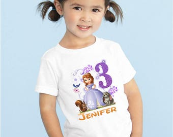 Cumpleaños de la Princesa Sofia camisa, Princesa Sofía personalizado camiseta, personalizada Princesa Sofía camisa, familia camisetas, camisetas del cumpleaños