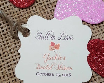 Personalized Favor Tags 2x2'', Wedding tags, Thank You tags, Favor tags, Gift tags, Bridal Shower Favor Tags, fall favor tag