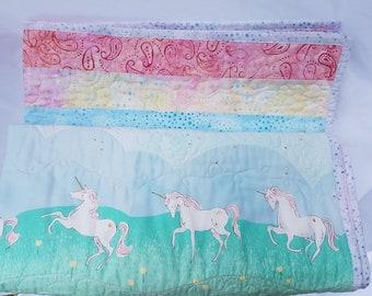 Unicorn quilt, unicorn blanket, unicorn decor, unicorn bedroom, unicorn baby shower, unicorn nursery