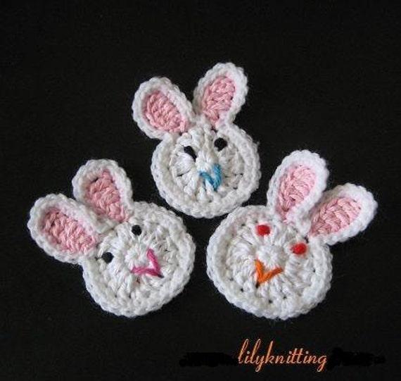 Pattern In Pdf Crocheted Applique Bunny Rabbit