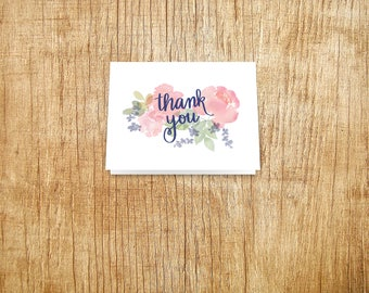 Thank you card with floral detail