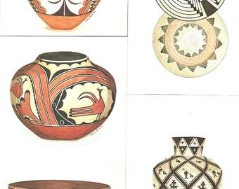 5 American INDIAN Cards Artwork-Dianne MAHANEY Sia-Acoma-Hopi-Apache-Pima+Nav Ppd-US
