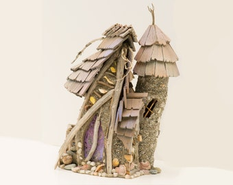 Fairy House Towers of Rose - enchanted tower and house designed for your fairy garden Faerie
