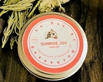 Soy Candle, 8 oz Candle Tin, Hand poured, Aromatherapy, no petroleum, Natural