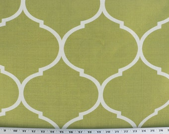 Drapery Fabric, Upholstery Fabric, Slipcover Fabric, Duvet Cover Fabric,  Kiwi Green Fabric, Green/Ivory Fabric, Designer Home Decor Fabric