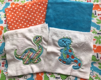NEW! I Dig Dinosaurs Minky Blanket or Kit